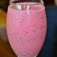 Summertime Berry Peach Smoothie