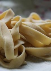 homemade chickpea pasta