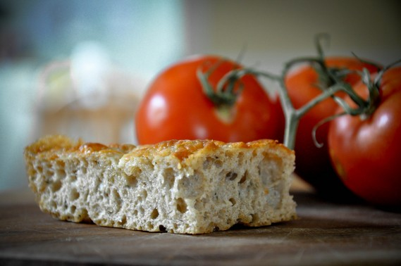 Cheesy Whole Wheat No-Knead Focaccia - A Beautiful Plate