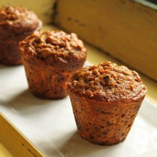 Healthy Carrot Pumpkin Spelt Muffins