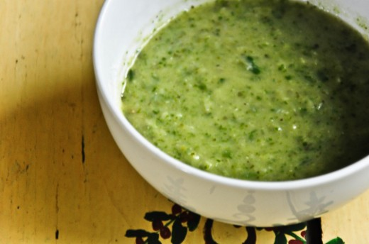 Lima Bean, Zucchini & Spinach Soup