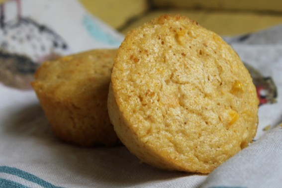 Sweet and Savory Corn Muffins. Fluffy corn muffins studded with corn kernels!