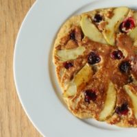 Cinnamon Apple Cranberry Pancakes
