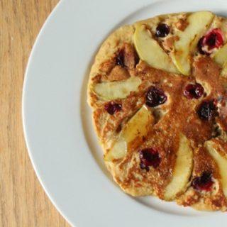 Cinnamon Apple Cranberry Pancakes
