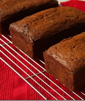 Banana Bread Loaves on Wire rack