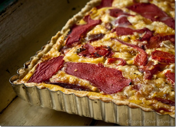Roasted Red Pepper and Goat Cheese Tart. An impressive tart that can be made for all occasions!