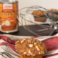 Walnut Streusel Pumpkin Muffins