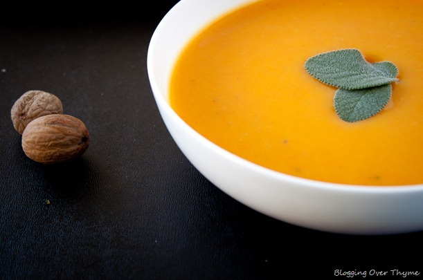 Butternut Squash and Carrot Soup. A light, healthy fall soup!