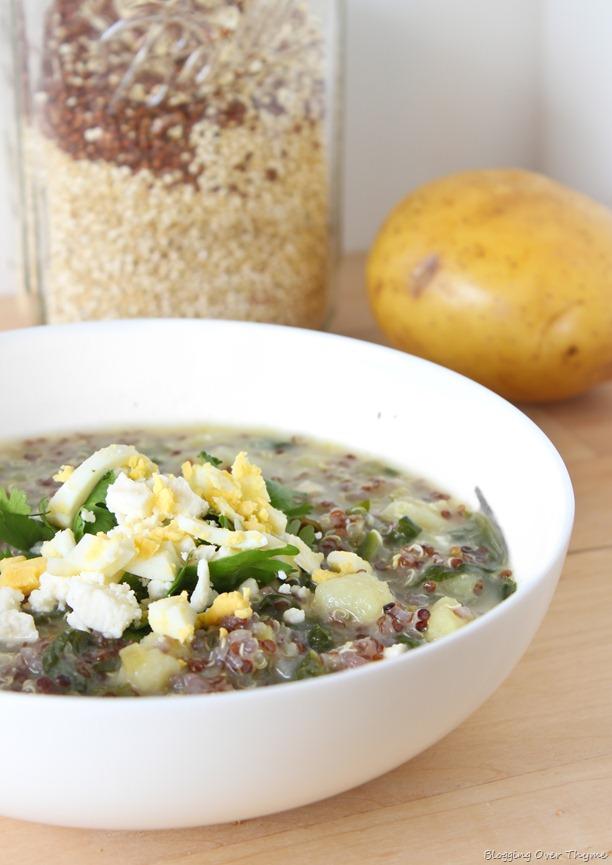 Quinoa Chowder With Spinach, Feta, And Scallions Recipes — Dishmaps
