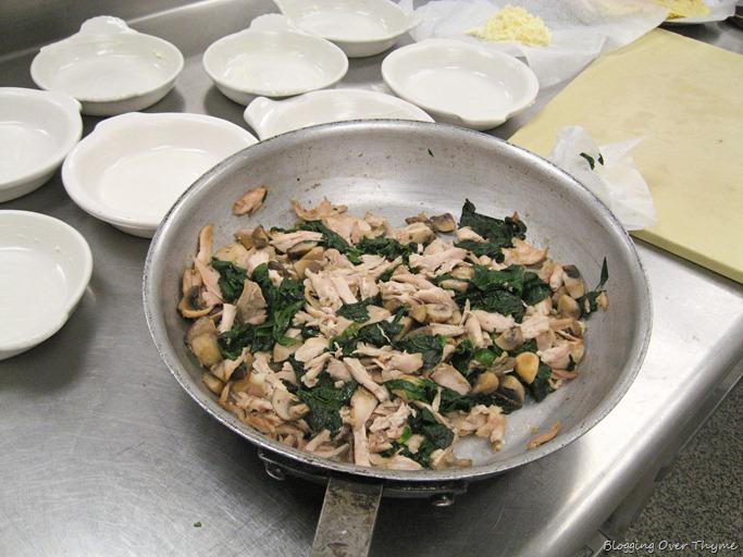 cooked chicken mixture