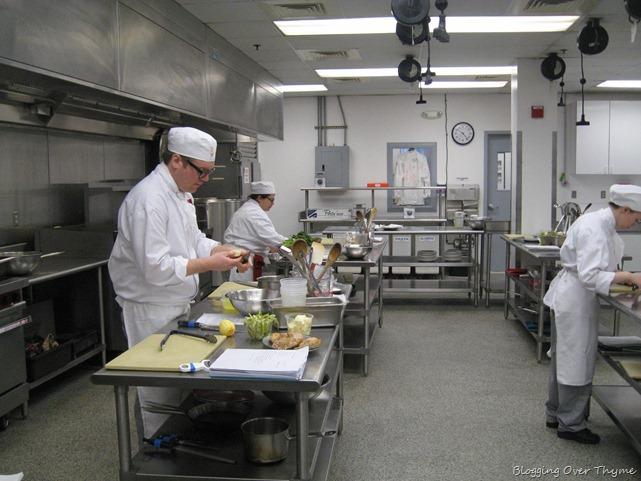 culinary school kitchen
