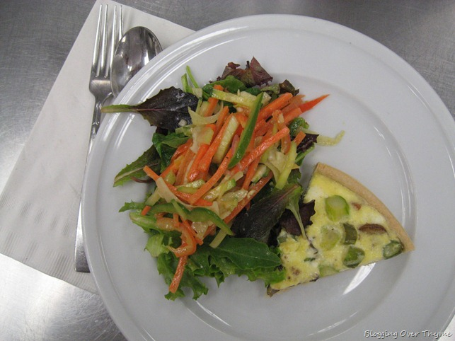 Salad with Quiche