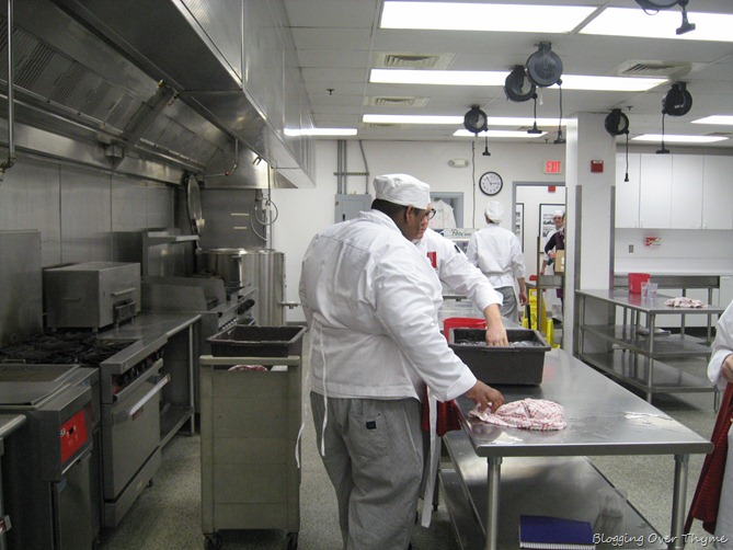 culinary school kitchen