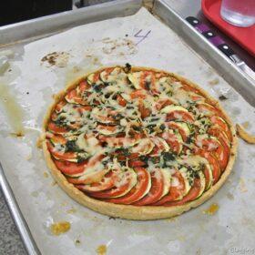 zucchini and tomato tart