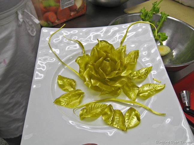 pulled sugar flower