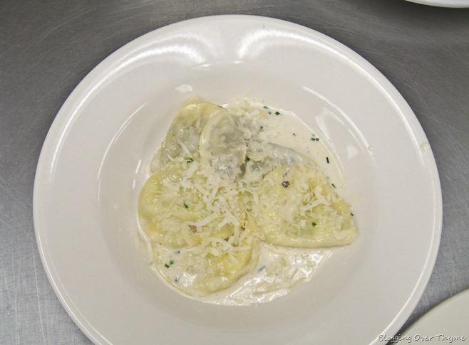 ravioli in cream sauce