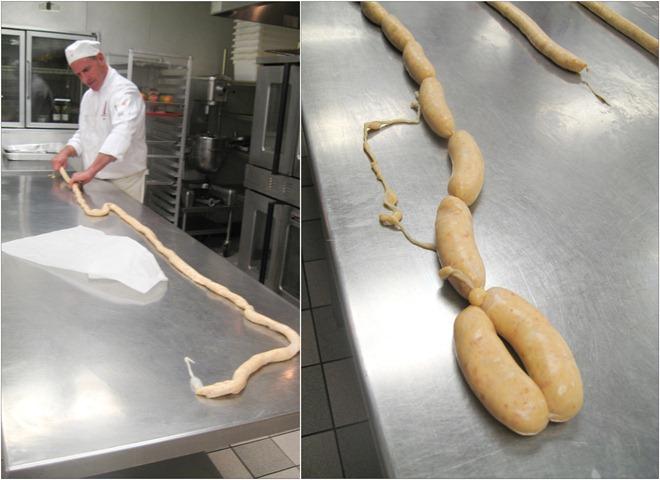 seafood sausage making