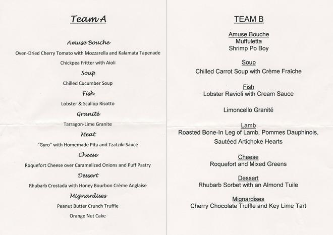 six course tasting menu challenge lacademie