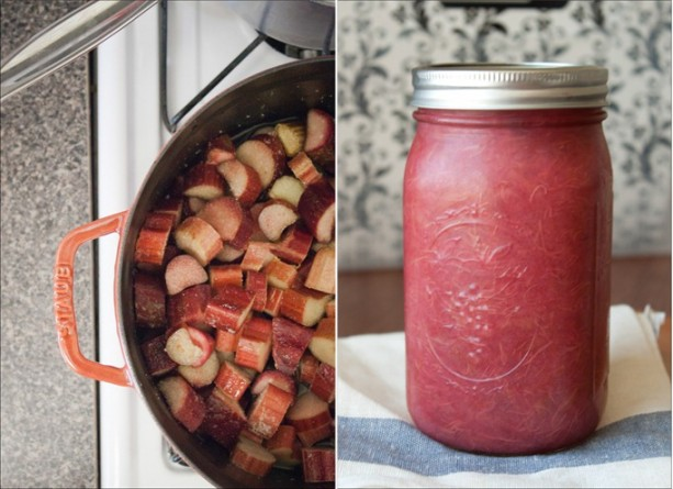 simple rhubarb compote