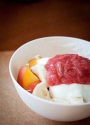 simple rhubarb compote