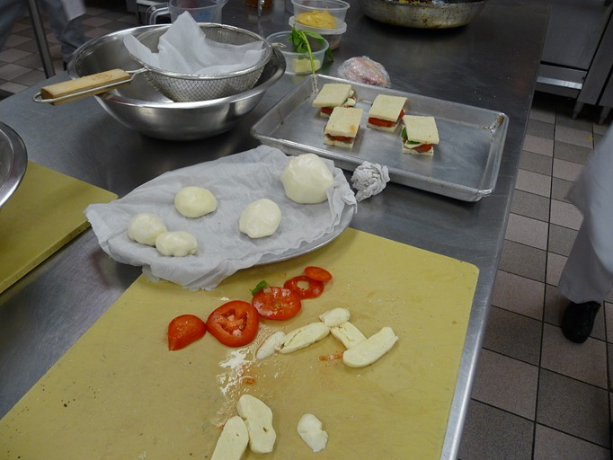 mozzarella cheesemaking
