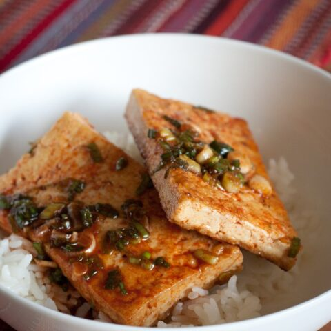 Traditional Korean Braised Tofu