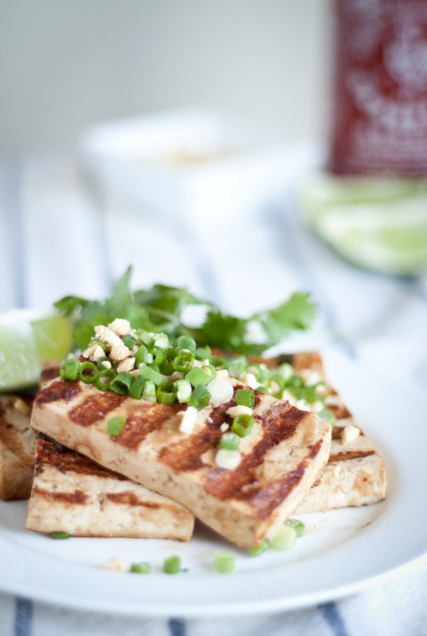 Grilled Asian Tofu Bowls - A Beautiful Plate
