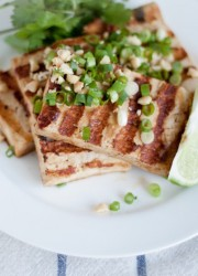 grilled asian tofu bowl