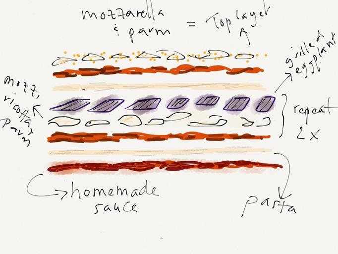 homemade lasagna illustration