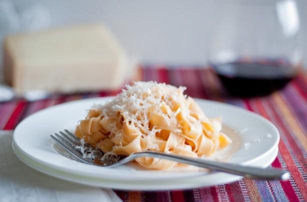 homemade red pasta
