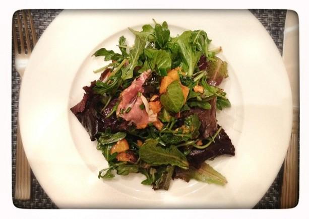 proscuitto roasted sweet potato salad