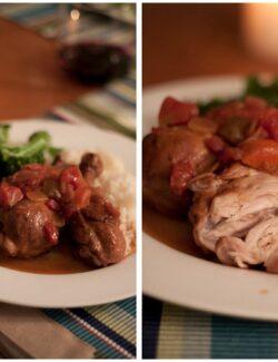 red wine tomato braised chicken