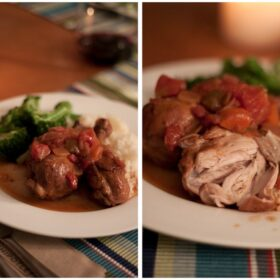 red wine tomato braised chicken