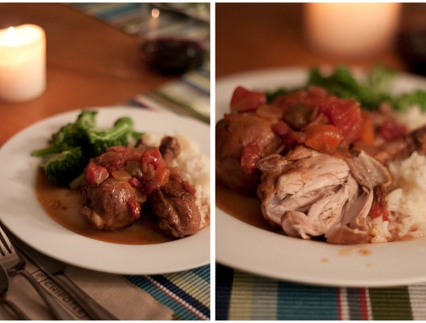 Easy and delicious red wine and tomato braised chicken! A comforting dish for fall or winter!