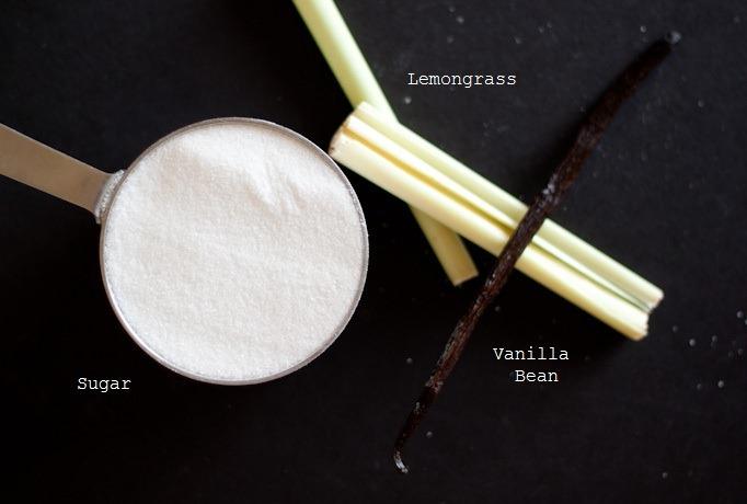 Vanilla Coconut Lemongrass Ice Cream ingredients