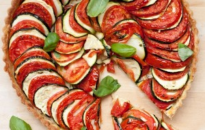Tomato Zucchini Tart | Blogging Over Thyme