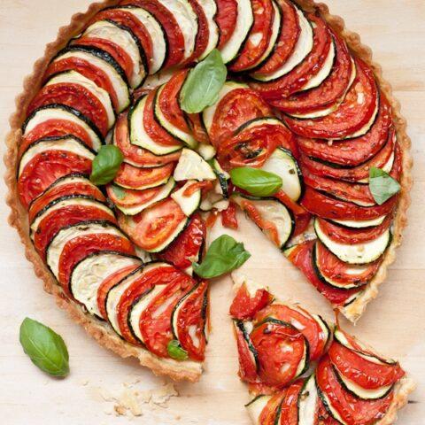 Tomato Zucchini Tart | Blogging Over Thyme