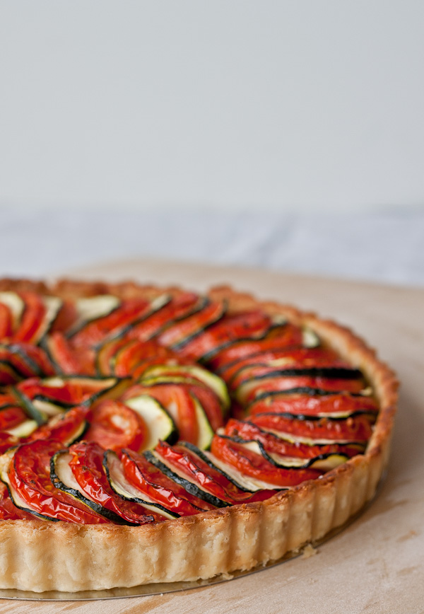Tomato Zucchini Tart - a simple, beautiful vegetable tart for summer!
