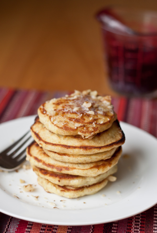 Walnut-Wheatgerm Silver Dollar Pancakes + Blackberry Syrup | Blogging Over Thyme