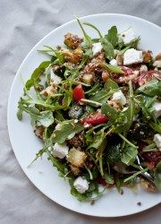 Red Quinoa and Arugula Salad | Blogging Over Thyme