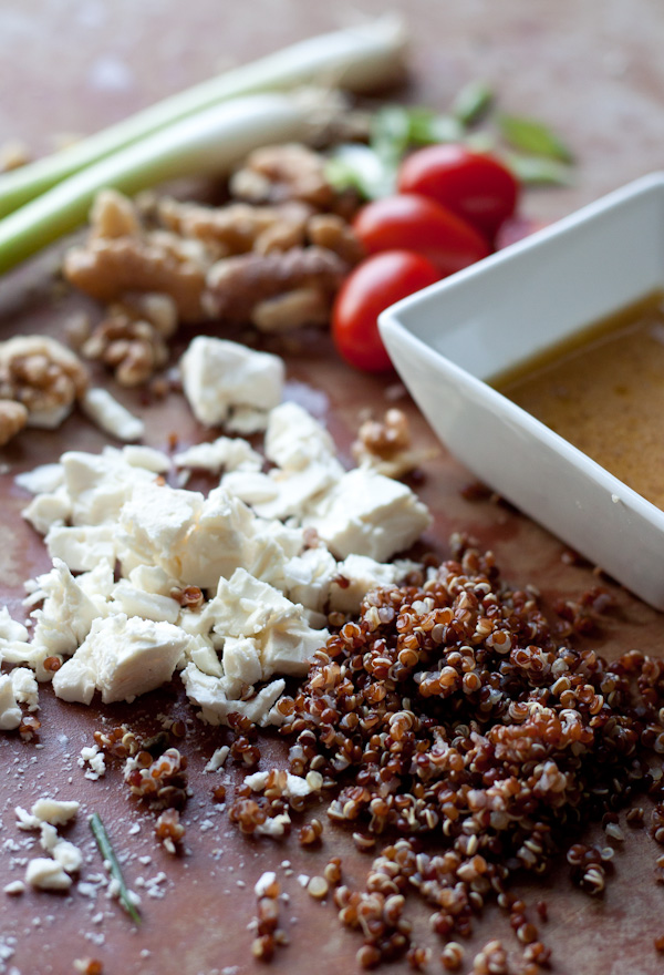 Red Quinoa and Arugula Salad | Blogging Over Thyme