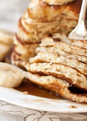 Banana Pancakes with Coconut Caramel Syrup   Blogging Over Thyme