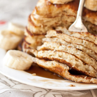 Banana Pancakes with Coconut Caramel Syrup | Blogging Over Thyme