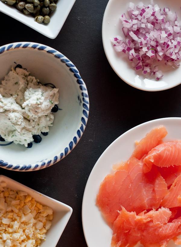 Smoked Salmon Potato Tartine Ingredients