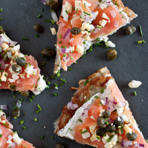 Smoked Salmon Potato Tartine | Blogging Over Thyme