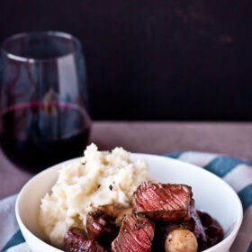 30 Minute Beef Bourguignon | bloggingoverthyme.com