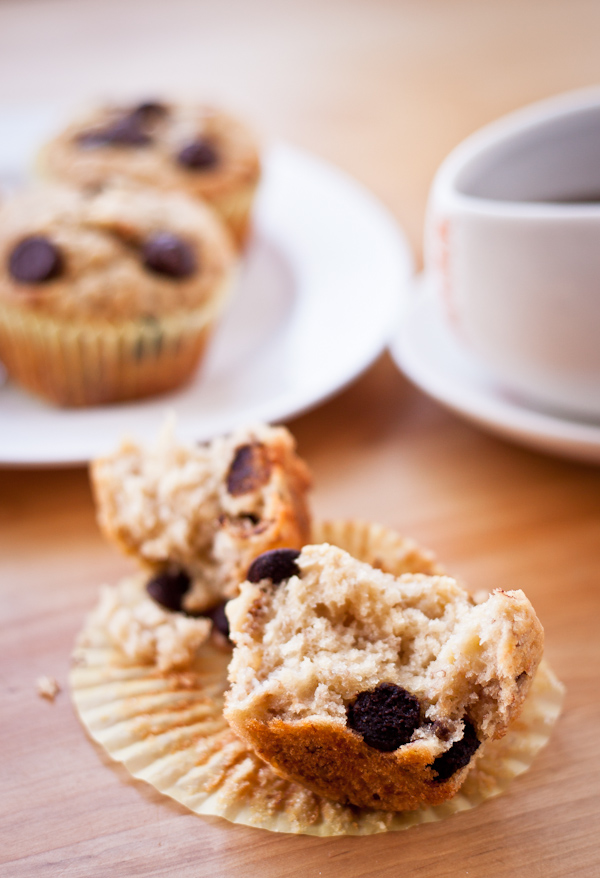 Banana Chip Muffins | bloggingoverthyme.com