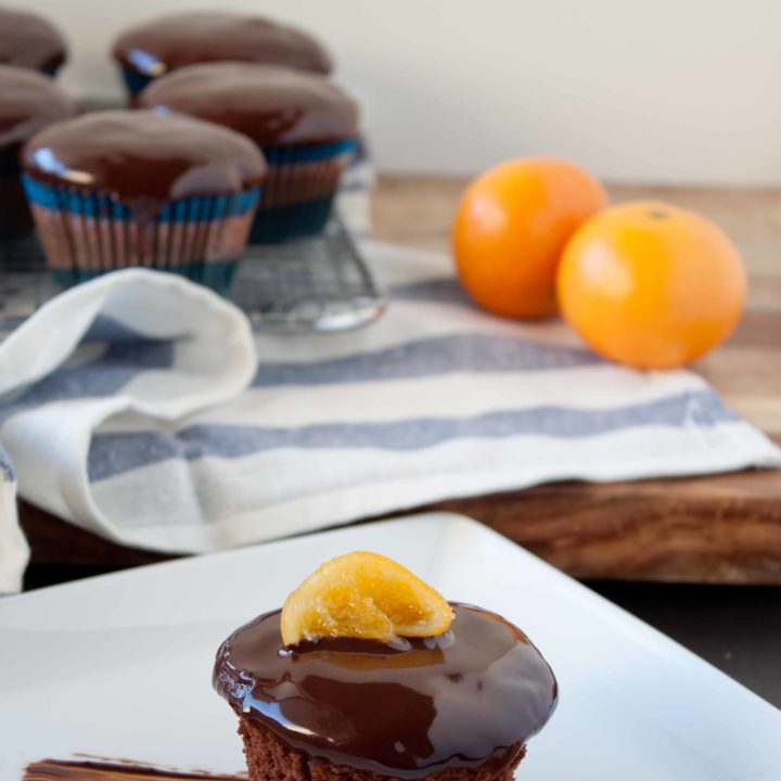 Chocolate Clementine Cupcake with Candied Citrus Slices