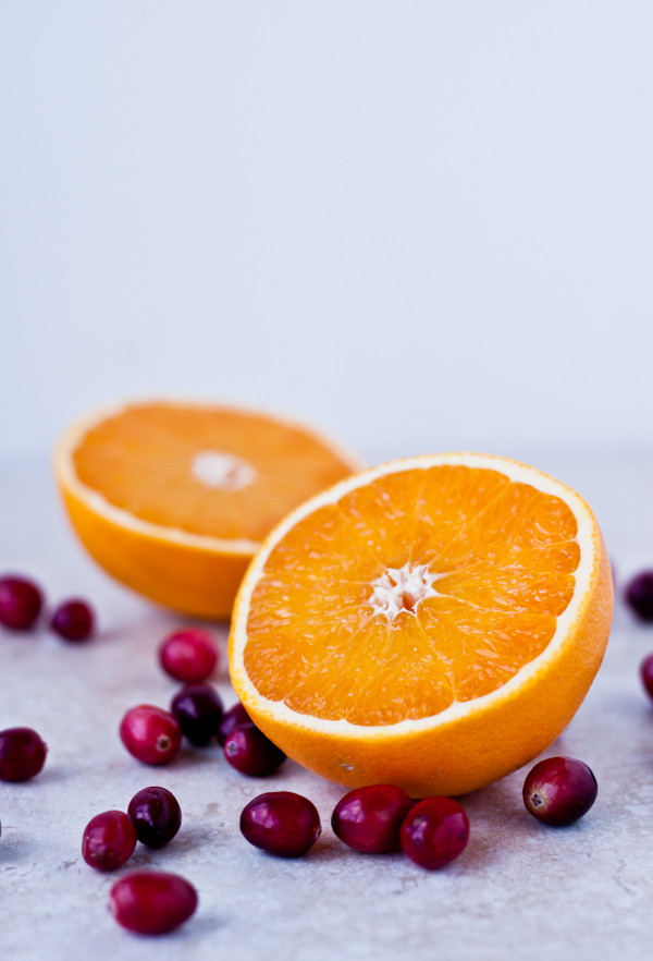Fresh Orange and Cranberries