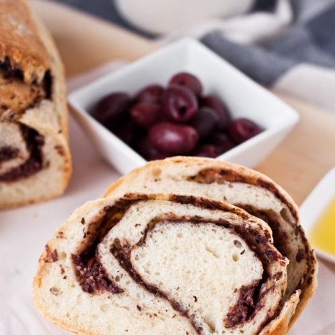 Olive Tapenade Swirl Bread